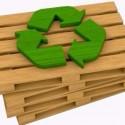 Sammlung von Abfällen-Paletten anfordern